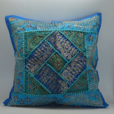 Cotton Cushion Cover with Patch Work