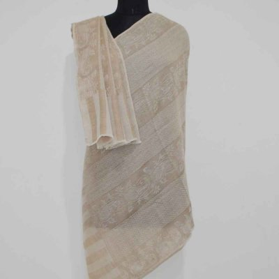 Pure Pashmina Self Weave Stole / wrap