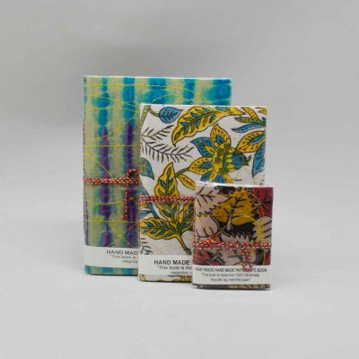 Handmade Cloth Diary Set of 3