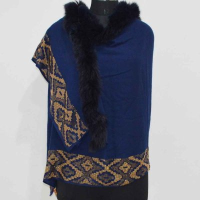 Pashmina Silk Wrap / Stole with Crystal Work