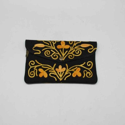 Flap Purse With Ari embroidery Work
