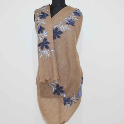 Thready Embroidery Wool Stole / Wrap