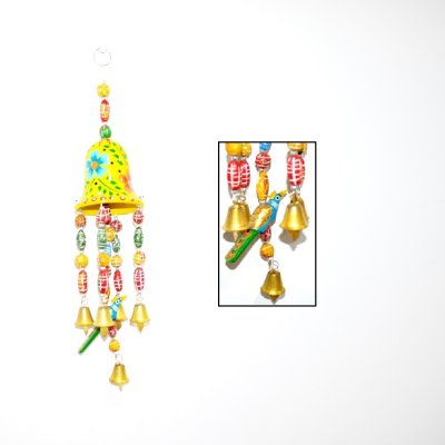 Wooden Bell Bird Hanging