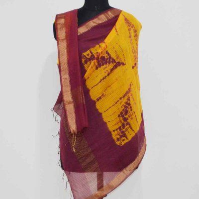 80% Wool 20% Silk Zari Border Dupatta