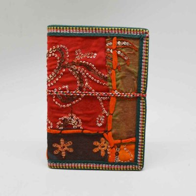 Handmade Patch Gota Diary with thread work